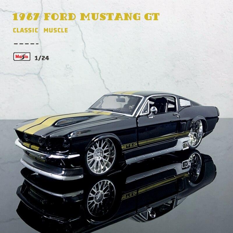 Maisto 1:24 nova versão modificada 1967 ford mustang gt liga modificado carro modelo coleção presente brinquedo