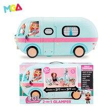 Кукла LOL Surprise, кемпинг, роскошный караван, набор, звук и светильник, трансформация, Волшебная езда, Ультра большая кукла, игрушка для девочек и мальчиков