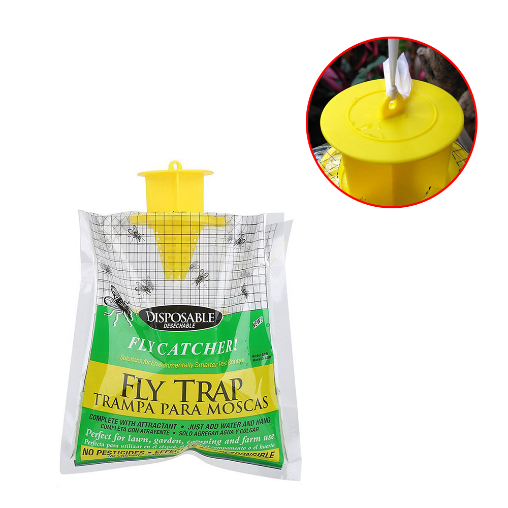 Flycatcher Bag Home Garden Outdoor Disposable Fly Catcher Control Trap Insecticide Fly Trap Catcher Bug Attractant Insect Killer