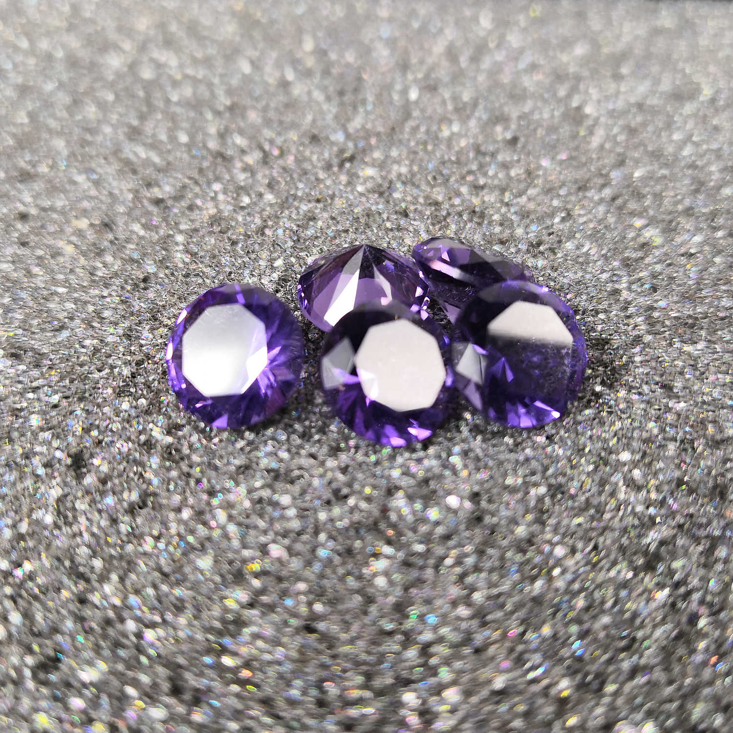 High quality gemstones,Purple color glass,Round shape,for jewelry making(1pcs)