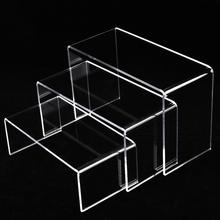 3 Tier New Clear Acrylic Display Stand Multi-functional Shoe Flowerpot Storage Rack,Watch Cosmetics Shelf Holder