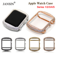 Luxury Rhinestone Diamond Protective Cover for Apple Watch 42mm 38mm Women watch Case for Apple Watch SE Series 6 5 4 40mm 44mm