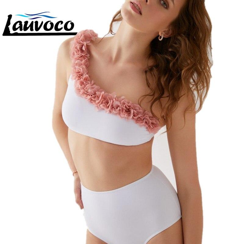 Sexy Bikini Set 2020 3D Flower Women's Bathing Suit Bikini High Waist Swimsuit Push Up Girl Two Piece Swimwear Brazilian Biquini