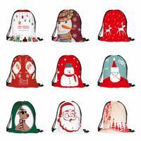 Унисекс сумка для хранения на шнурке веселая Рождественская конфетка Сумка-ранец рюкзак комплект карманная сумка для хранения на шнурке Y819