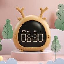 Alarm Clock Kids Child Children Sleep Bedside Alarm Clock Digital Wake Up Temperature Snooze Timer Clock for Bedroom/Table/Desk