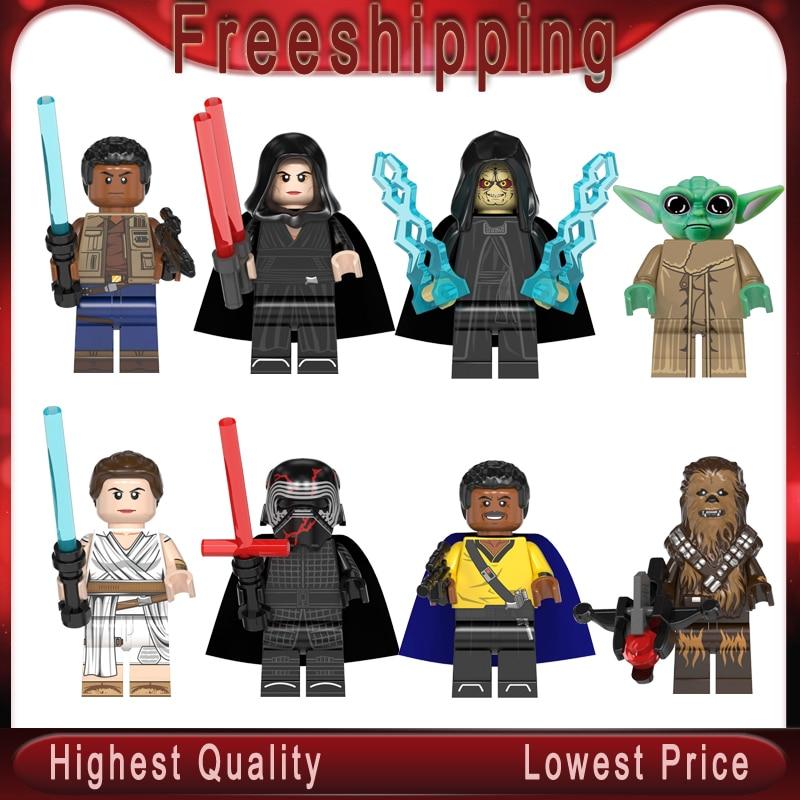 Legoly Starwars 2019 Imperial Baby Yoda Mandalorian Rey Kylo Rened Finn Palpatine Luke Skywalker Building Blocks Child Toy Gift