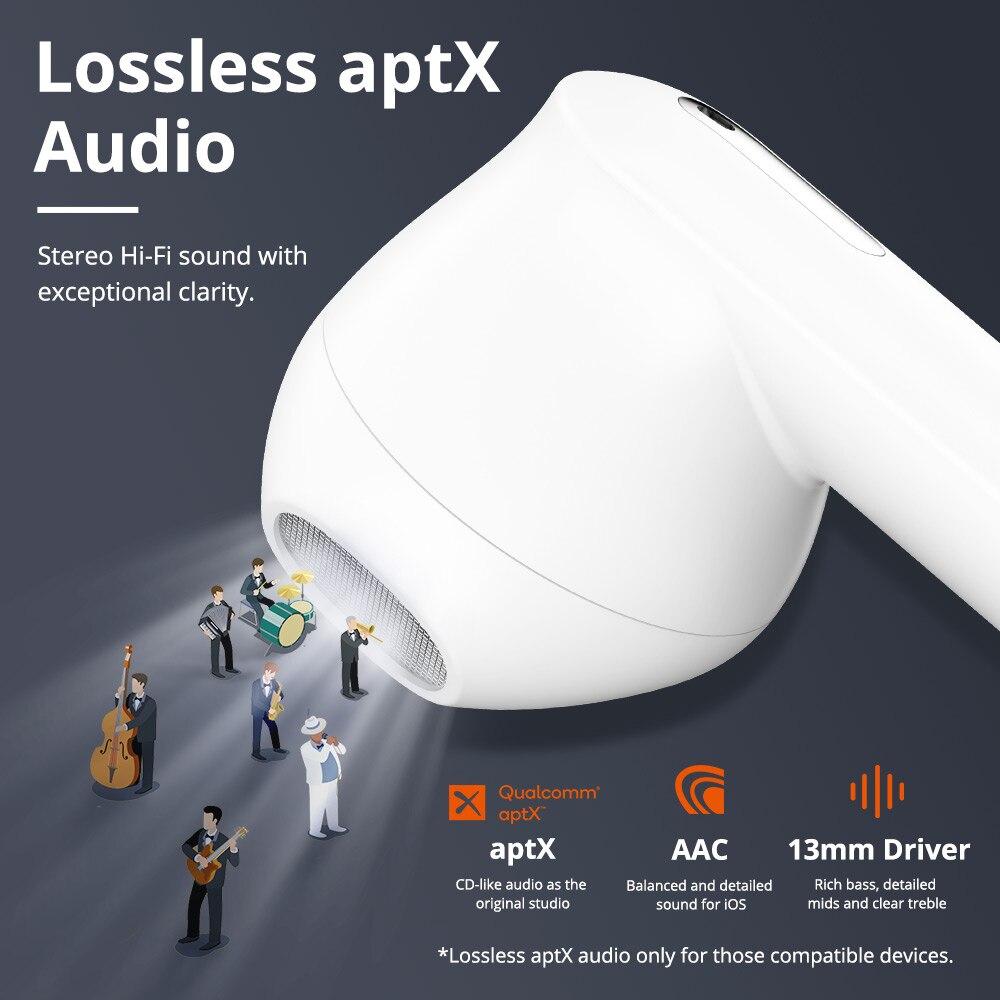 Tronsmart Onyx Ace TWS Bluetooth 5.0 ecouteurs Qualcomm aptX écouteurs sans fil annulation du bruit avec 4 micros, 24H de récréation - 3