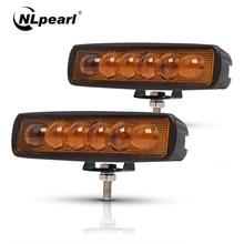 Nlpearl 2x 6 18W Led Light Bar/Work 8D Lens Spot LED Work Bar Driving Lamp for Offroad Jeep Trucks Boat SUV ATV