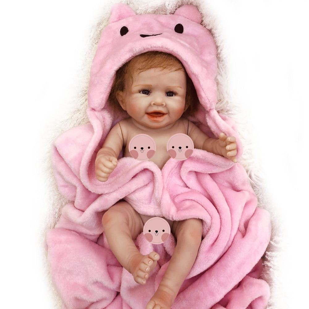 "Tiny Reborn Baby Dolls Silicone Full Body Anatomically Correct 11/"" Kids Bath Toy"