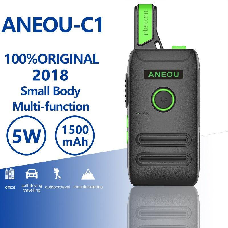 ANEOU C1 мини рация 5 Вт Uhf двухстороннее радио Hf трансивер портативное радио Comunicador Ham Радио Amador детское радио Woki Toki