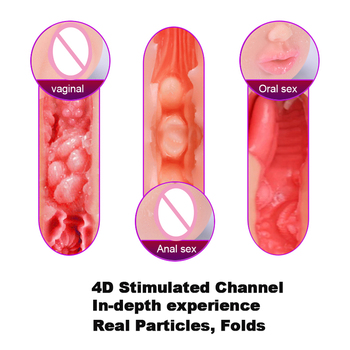 Realistic Vagina Pocket Pussy/Anal/Oral Sex Male Masturbator Erotic Adults Sex Toys Masturbation Cup for Men Intimate Goods 3