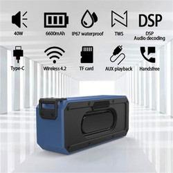 Bluetooth Speakers 40W Powerful Active Boombox Soundbar Sound Box High Power Bluetooth Speaker Portable Music Center Acoustics