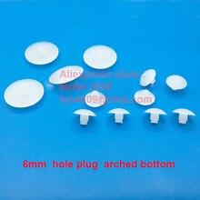 Для круглого диаметра 6 мм отверстие заглушка полупрозрачное пластиковое отверстие вставка прокладка арочная Нижняя крышка диван стул сто...