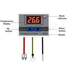 W3001 controle digital temperatura interruptor do termostato do microcomputador termômetro novo termorregulador 12/24/220v