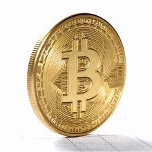 1 sztuk Art Collection Bitcoin historyczne monety okolicznościowe metalowe pozłacane historia pamiątkowe monety wysokiej jakości na prezent pamiątka
