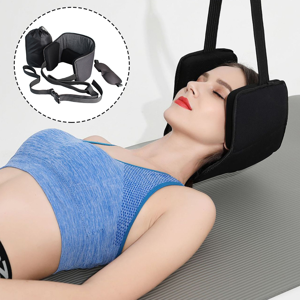 Physical Therapy Cervical Neck Traction Set Eye Mask Pain Relief Support Relieve Fatigue Healthy Massage Hammock Storage Bag