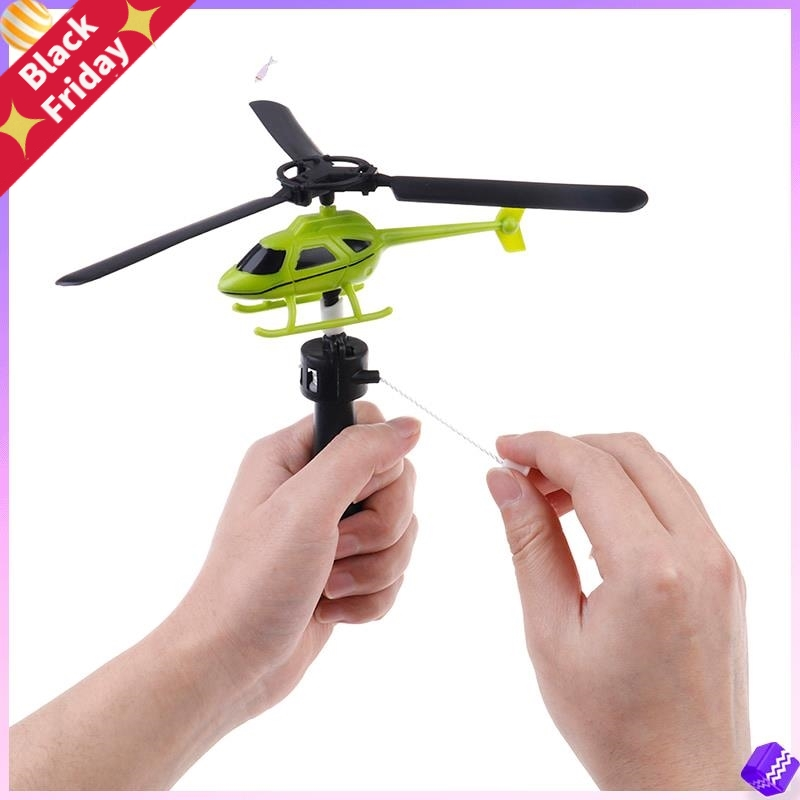 New Aviation Model Copter Handle Pull Helicopter Plane Outdoor Toys For Kids Playing Drone Children's Day Gifts For Beginner