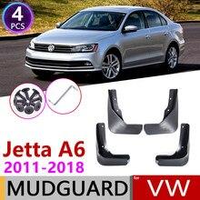 Para Volkswagen VW Jetta A6 5C6 Mk6 6 2011 ~ 2018 Mudguards Mud Proteção Contra Respingos Flap Fender Acessórios 2012 2013 2014 2015 2016 2017