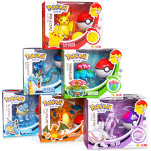 Echte Pokemon Speelgoed Set Speelgoed Pocket Monster Pikachu Charmander Mewtwo Lunala Scroll Action Figure Anime Model Kinderspeelgoed