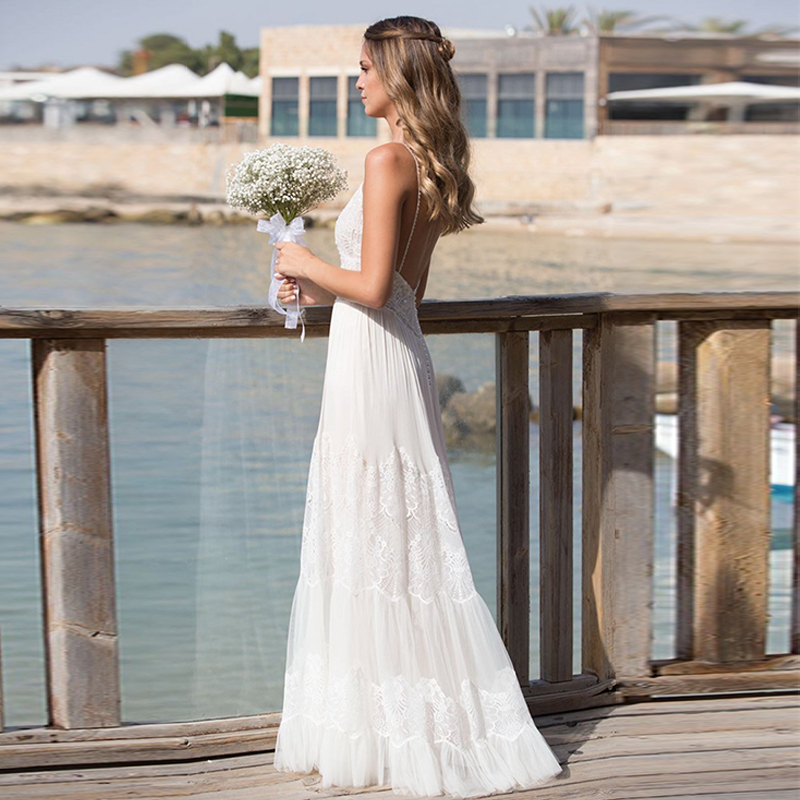 Verngo Sleeveless Wedding Dress Boho Wedding Dress Simple Summer Wedding Gowns Custom Made Vestido De Noiva 2019