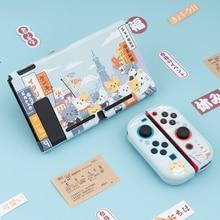 Geekshare чехол Для Nintendo переключатель Осаки кошки веселый дизайн милый Фея Лига жесткая полная крышка задняя Girp в виде ракушки для Nintendo Switch