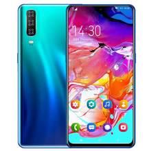 Versão global a50 android smartphone 6.3 polegada celular duplo sim câmera do telefone móvel 3g 4g celular telefones inteligentes rosto desbloqueio handset
