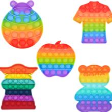 Zabawki typu Fidget Push Bubble Fidget zabawka sensoryczna autyzm specjalne potrzeby stres antystresowy Squishy zabawki typu Fidget Антистресс tanie tanio CN (pochodzenie) MATERNITY W wieku 0-6m 7-12m 13-24m 25-36m 4-6y 7-12y 12 + y 18 + fidget toys kids fidget toys Sport silicone toys