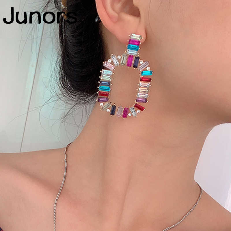 Girlgo resin party earrings for Women Earrings 2019 gadis large pendant Geometric Big Maxi Statement Dangle Earrings Female gift