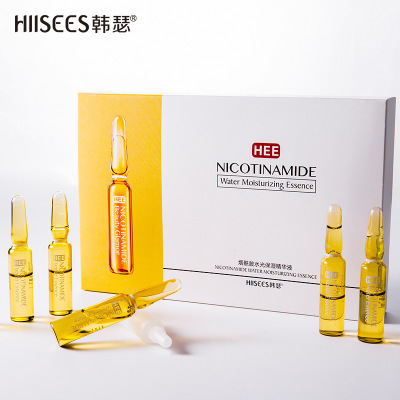 Hyaluronic Acid Ampoule Face Serum Shrink Pores Anti-Ance Nicotinamide Whitening Moisturizing Anti-Aging Wrinkle Skin Care