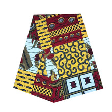 2019 veritable african wax prints in fabric dutch block soft breathable 100% cotton 6yards/piece V-L 701 2019 veritable real dutch african wax block prints fabric soft breathable 100