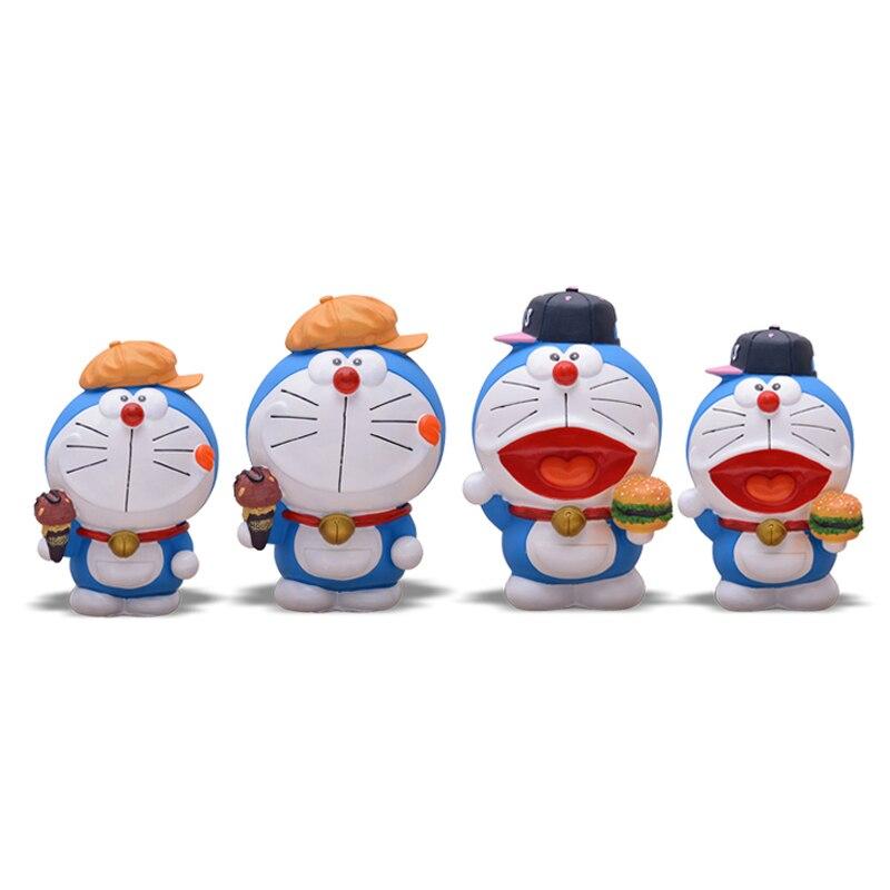 UNBreakable Cartoon Doraemon Figure Piggy Bank Money Box Plastic Piggy Bank Safe Coin Piggy Box Home Decoration Accesorries