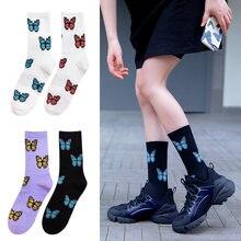 Женские хлопковые носки harajuku с мультяшным принтом Размеры