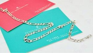 Image 5 - Gran oferta de collares de cadena de plata de ley 925 para hombre, 6MM y 56cm, Charm de moda para hombre, accesorios de joyería de lujo para hombre, regalo