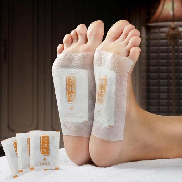 10pcs/box Body Detox Foot Patch Relax Chinese Ginger Herbal Adhesive Pads Wormwood Anti-swelling Foot Mask Detox Foot Stickers 5