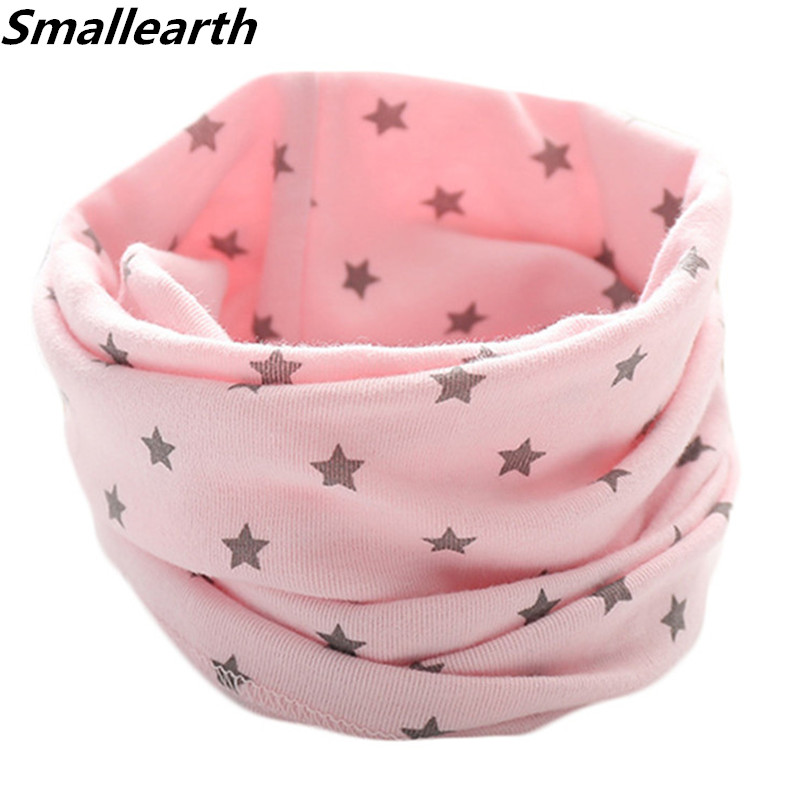Spring Autumn Children's Cotton Scarf Baby Kids Winter Warm Scarves Bibs Boys Girls Neck Collar Child O Ring Magic Neckerchief