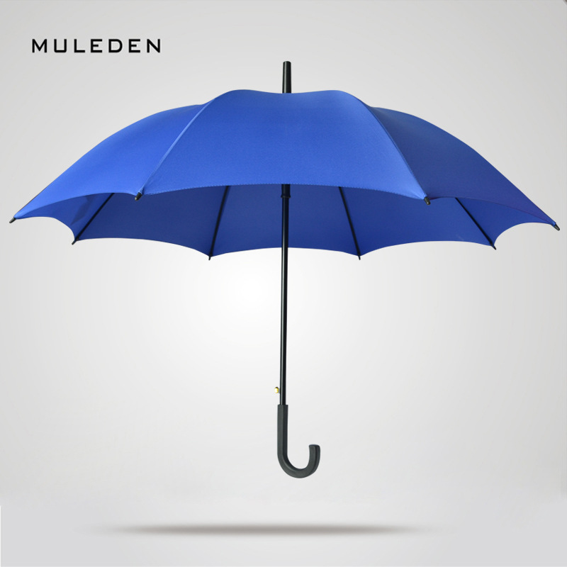 Manufacturers Direct Selling 8K Double Bone Long Handle Advertising Umbrella Customizable Gift Umbrella Straight Pole Umbrella W