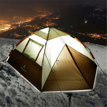 Outdoor Camping Tent 3-4 People 4 Seasons Family Travel Beach Camp Tent  Windproof Rainproof Breathable Tent Uv Protection