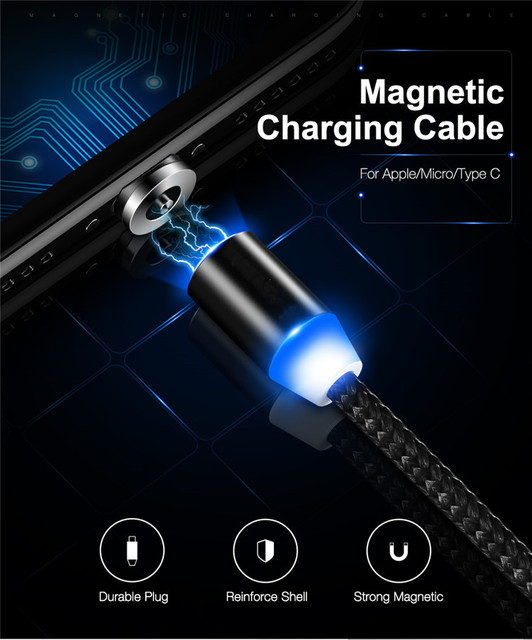 5PCS Round Magnetic Cable plug Type C Micro USB C Plugs Fast Charging Cable Adapter Phone Microusb Type-C Magnet Charger Plug 4