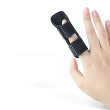 1PC Hot Sale Best Selling Black Pain Relief Finger Splint Support Straightener A
