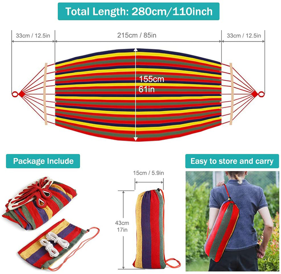 MOSFiATA-Camping-Hammock-with-Thickened-320G-Durable-Canvas-Fabric-Sturdy-Metal-Knot-Tree-Straps-Hanging-Chair-Garden-Furniture-15