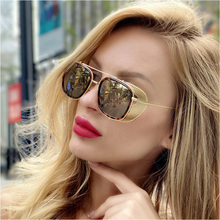 AOZE 2020 steampunk fashion sunglasses-style metal side shield