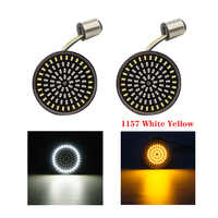 1Pair Motorcycle Led Turn Signals Kit for Harley Road Glide Touring Sportster with 1156 1157 Base White/Amber Led Turn Signal