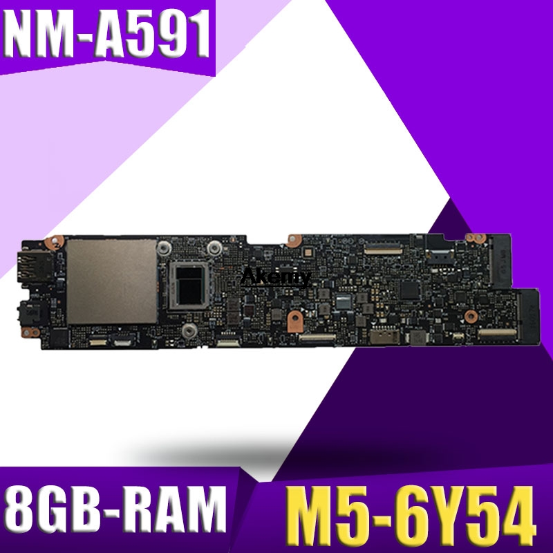 NM-A591 Laptop Motherboard For Lenovo YOGA 900S-12ISK Original Mainboard 8GB-RAM M5-6Y54