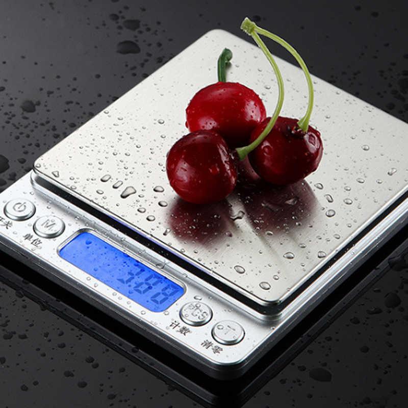 0.01/0.1G Presisi Baru LCD Digital Timbangan 500G/1/2/3Kg Mini Elektronik gram Skala Keseimbangan Berat untuk Teh Baking Skala Berat