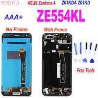 "AAA + 5,5 ""LCD para ASUS Zenfone 4 ZE554KL Z01KDA Z01KD pantalla LCD de montaje de digitalizador con pantalla táctil w marco para Asus ZE554KL LCD"