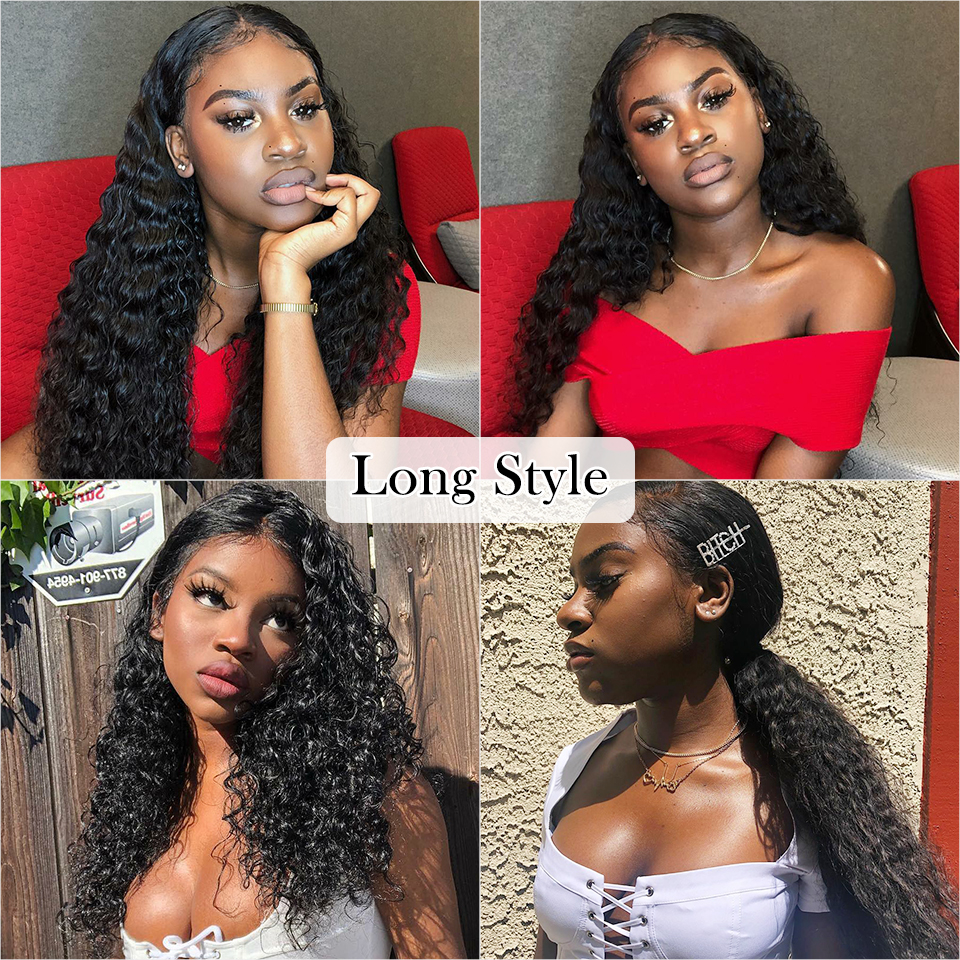 Curly Human Hair Wig 4 4 5 5 Lace Closure Human Hair Wigs With Baby Hair Curly Human Hair Wig 4*4 5*5 Lace Closure Human Hair Wigs With Baby Hair Brazilian kinky Curly Hair Wigs ALI ANNABELLE HAIR