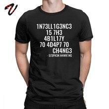 Camiseta geek inteligência é a capacidade de se adaptar à mudança camiseta presente de aniversário topos de algodão de luxo tshirt