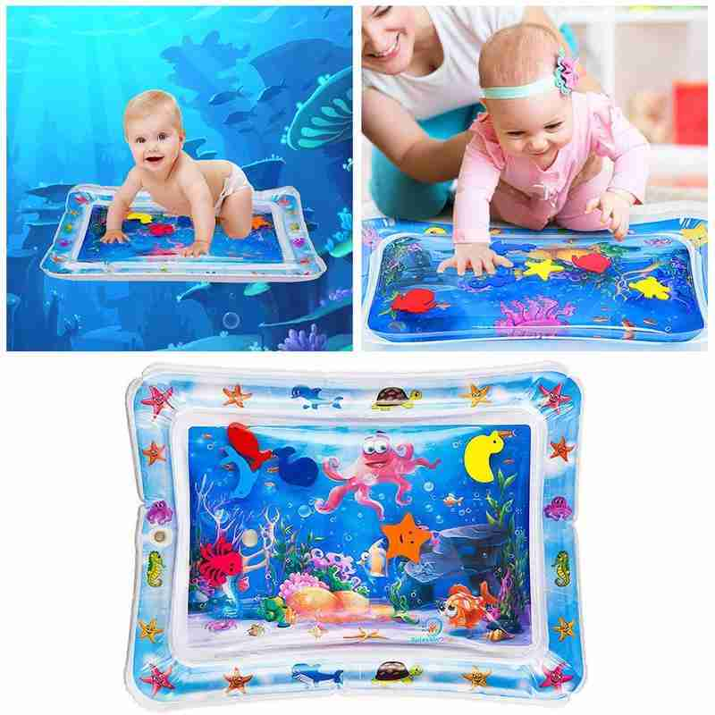 Aquarium Summer Inflatable Water Mat For Babies Non-toxic Safety Cushion Ice Mat Travel Portable Early Education Mat Pad Toys