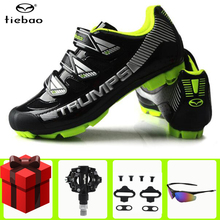 цена на TIEBAO MTB Cycling Shoes Sapatilha Ciclismo Mtb Men sneakers Women Outdoor Mountain Bike Shoes Bicycle SPD Cleat sports shoes