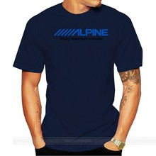 Alpine Electronics T-Shirt Tee Audio Mp3 Usb Cda Cd Radio Stereo Aux Gift New male brand teeshirt men summer cotton t shirt(China)